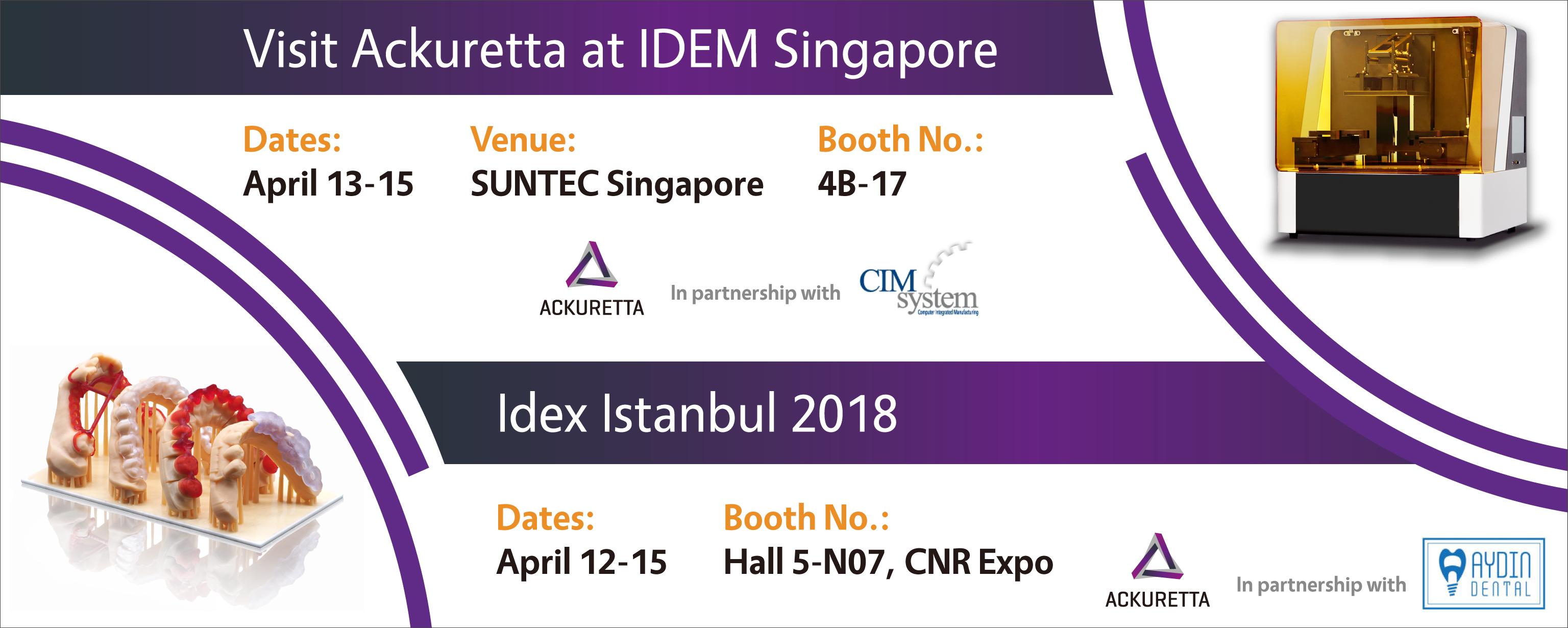 Ackuretta at IDEM and Idex